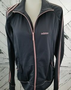 Adidas Athletics Jacket Size XL Grey & Pink